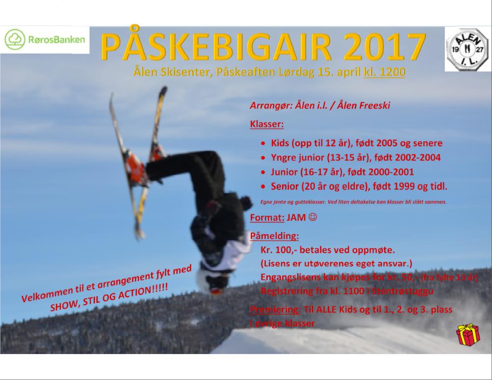 Påskebigair 2017 @ Ålen Skisenter